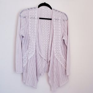 Maurices lacy cream cardigan